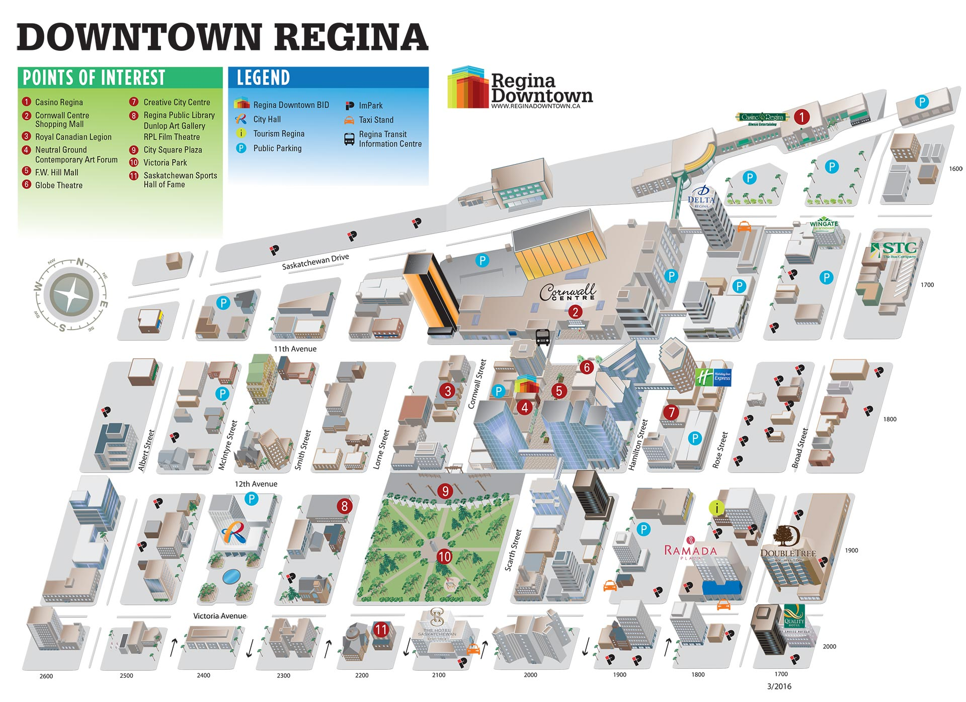 VIEW MAP Regina Downtown