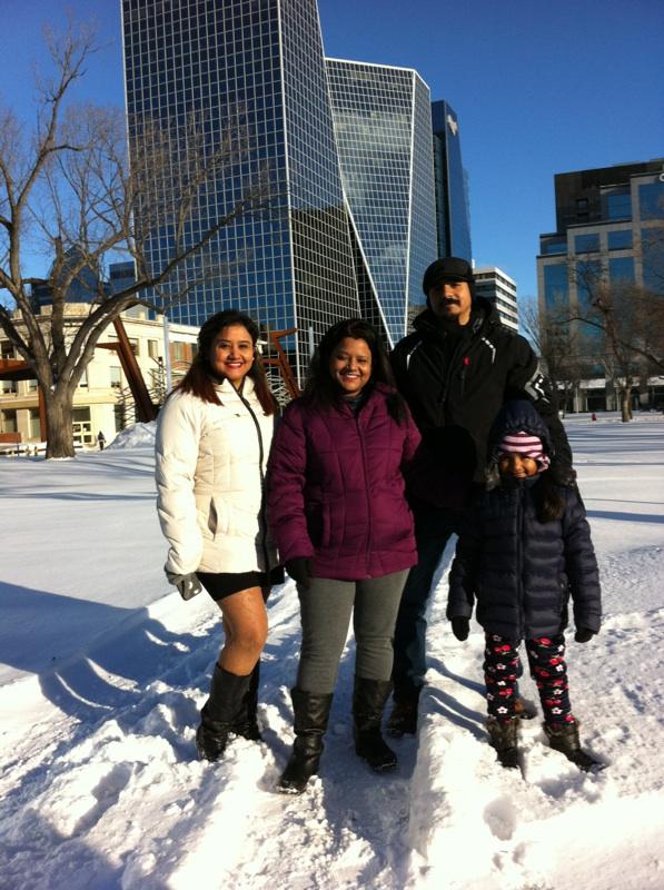 RINK STORIES: Rishu & family